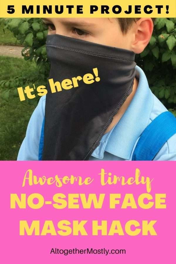 no sew face mask